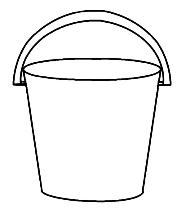 Bucket Clipart Black And White.