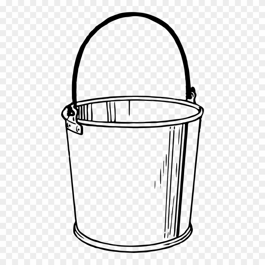 Banner Transparent Broom Drawing Bucket.