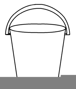 Black And White Bucket Clipart.