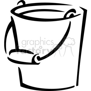 black and white bucket clipart. Royalty.