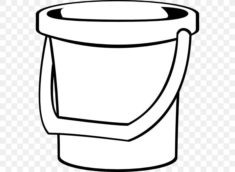 Bucket Pail Clip Art, PNG, 570x599px, Bucket, Area, Black.