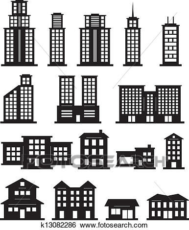 Building Clipart Black And White Free.