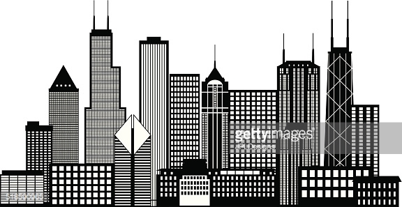 Buildings clipart black and white, Buildings black and white.