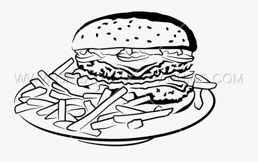 Clip Art Burger Clipart Black And White.