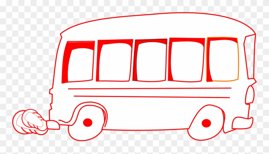 Black And White Bus Clipart.