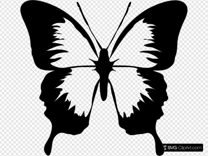Black And White Butterfly Clip art, Icon and SVG.