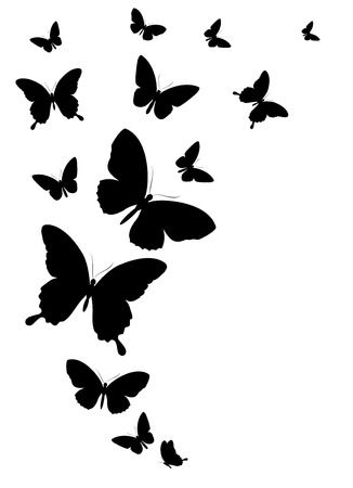 47,756 Butterfly Silhouette Cliparts, Stock Vector And Royalty Free.