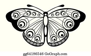 Black And White Butterfly Clip Art.