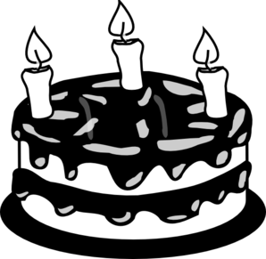 Birthday Cake Clipart Black And White: 3 #84529.