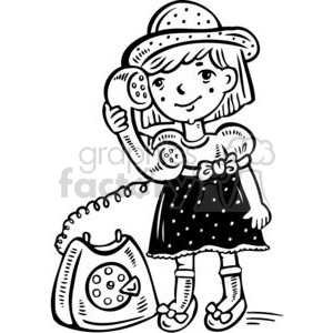 Talking On The Phone Clipart Black And White.