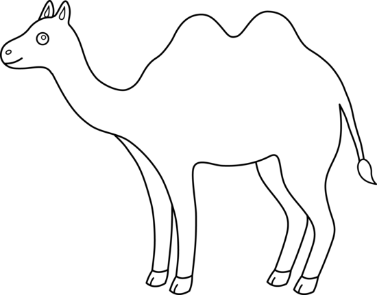 Free Camel Clipart Black And White, Download Free Clip Art.