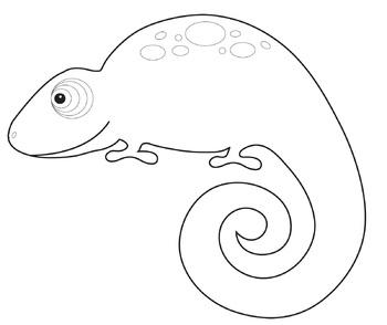 Chameleon Clip Art: Colorful Chameleons.