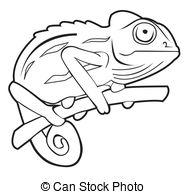 Chameleon clipart black and white 2 » Clipart Station.