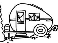 1334 Camper free clipart.