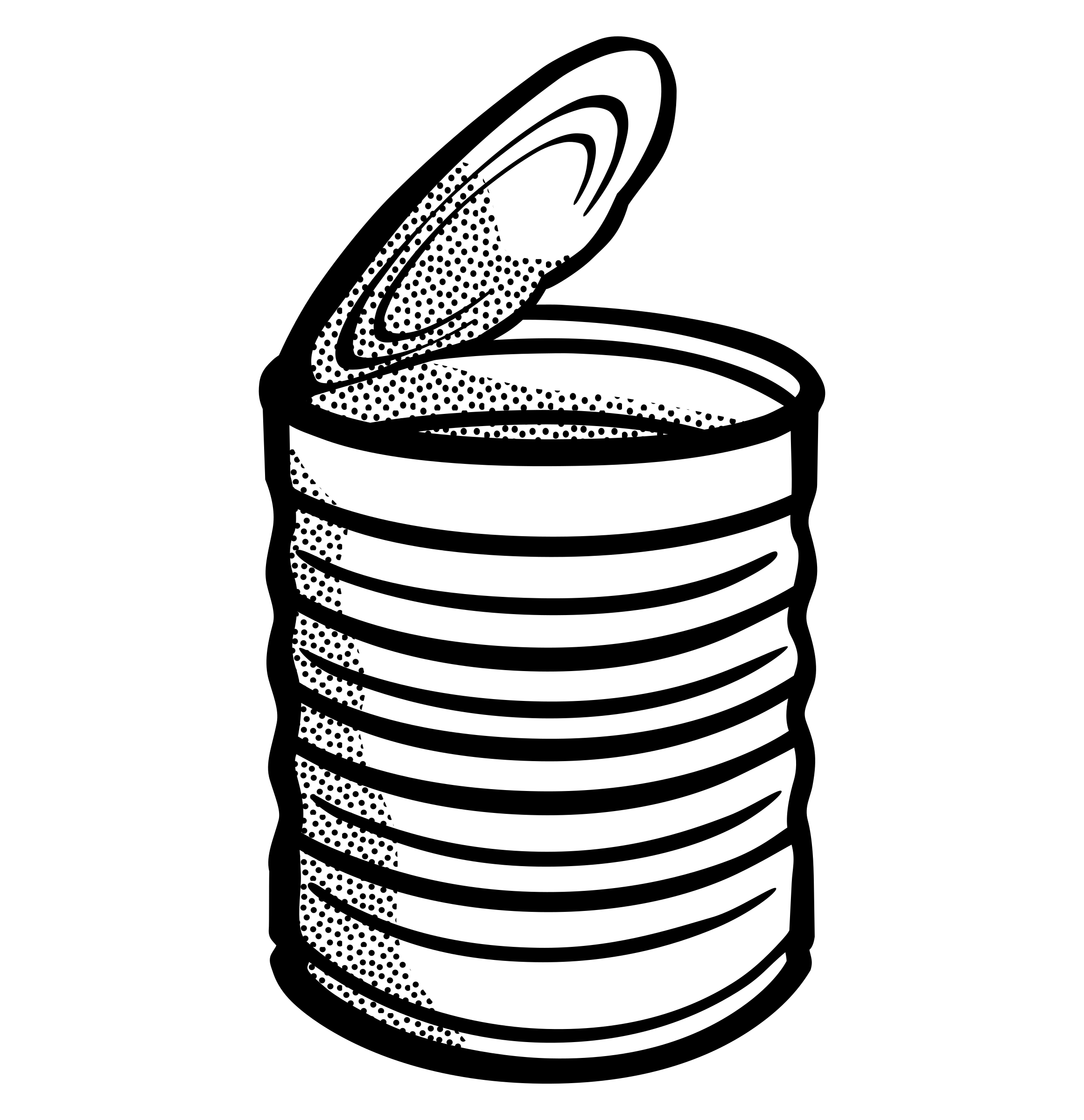 Can Clipart Black And White.