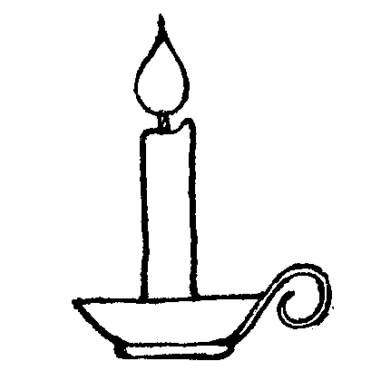Free Candle Black And White Clipart, Download Free Clip Art.