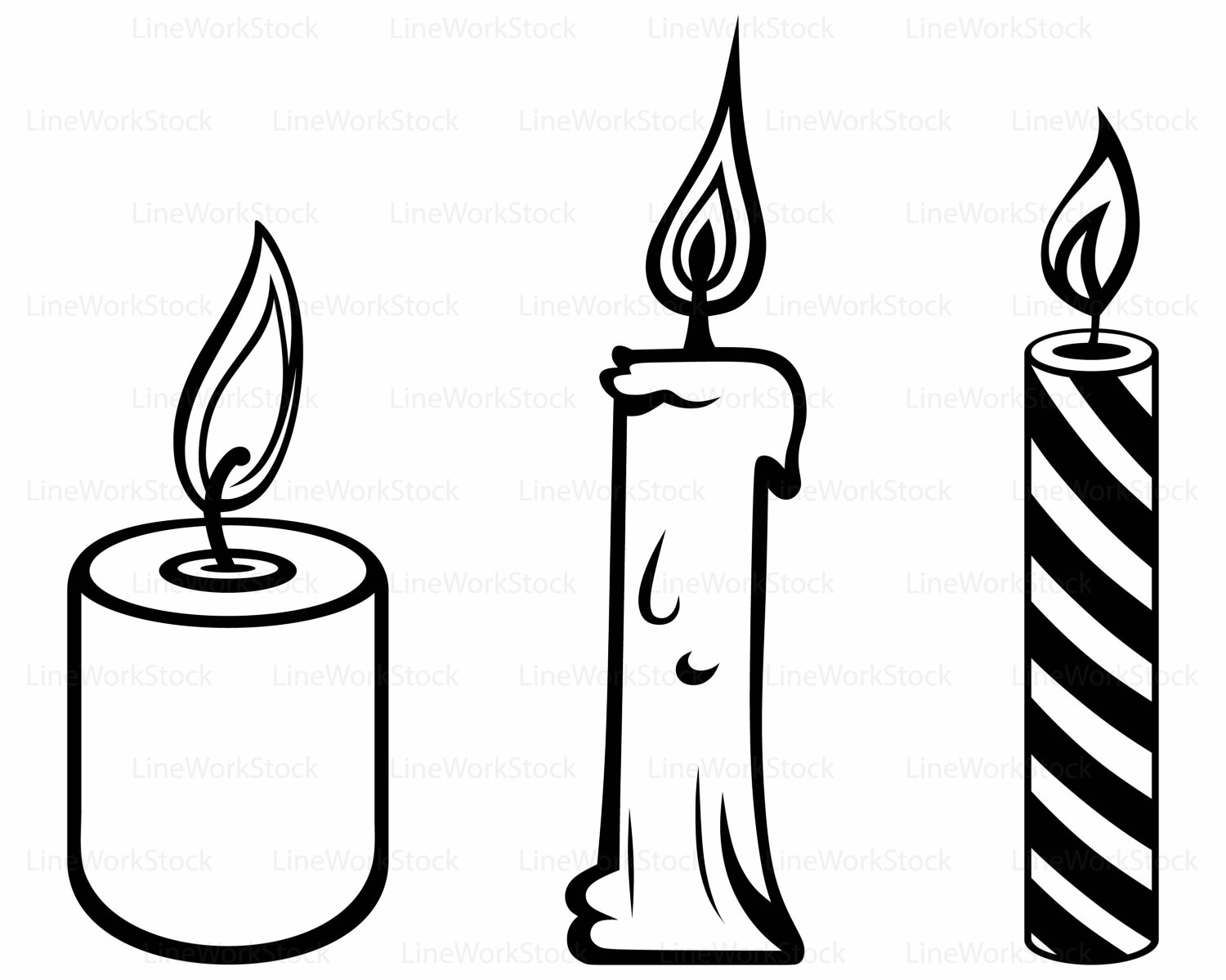 Candle clipart black and white, Picture #322269 candle.