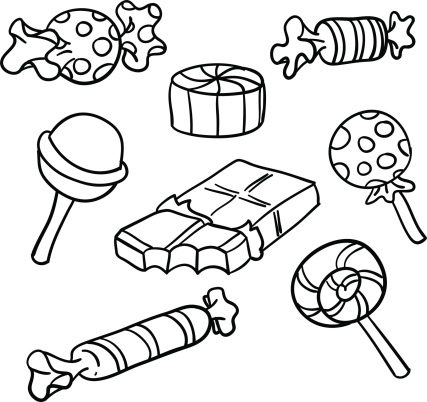 44+ Candy Clipart Black And White.