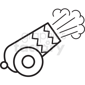 circus cannon shooting icon clipart. Royalty.