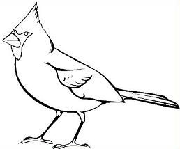 cardinal clipart black and white.