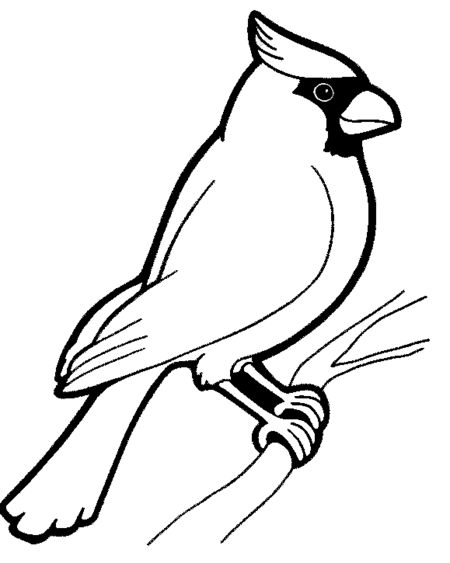 Cardinal clipart black and white, Cardinal black and white.