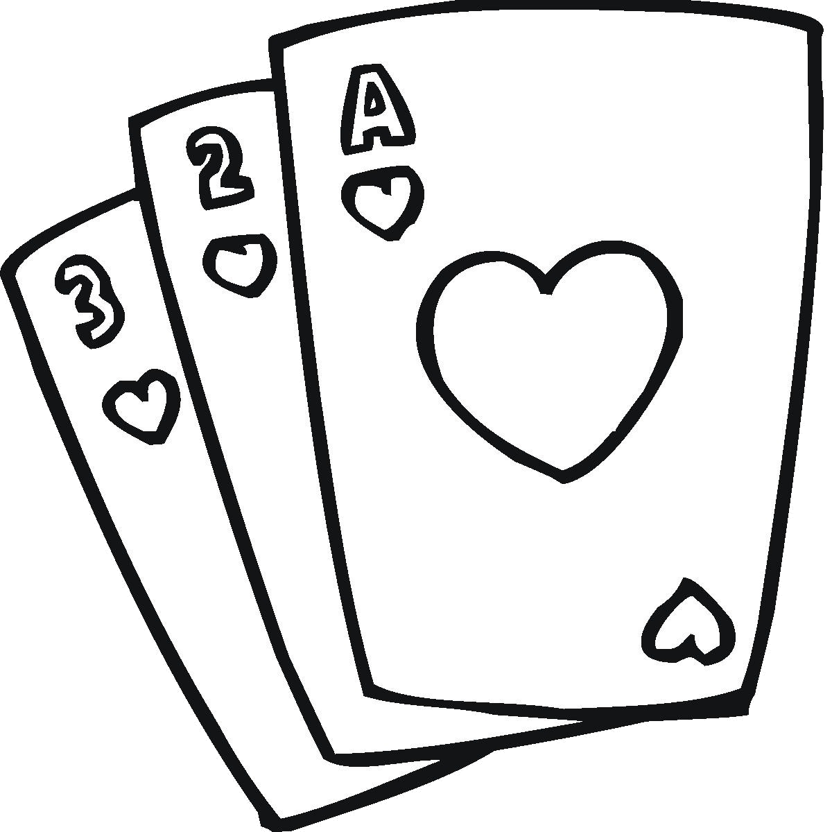 Playing Cards Collection Of Clipart Black And White Images.