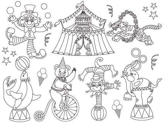 Carnival Clipart Black And White.