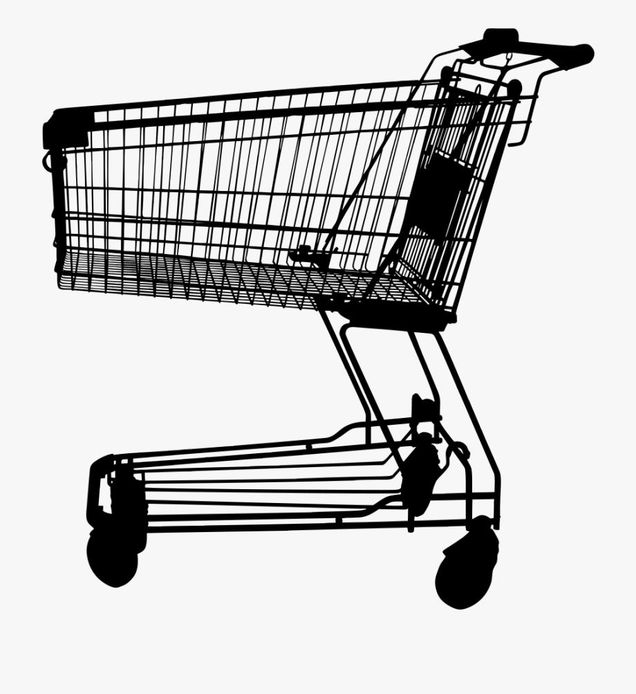 Shopping Cart Silhouette.