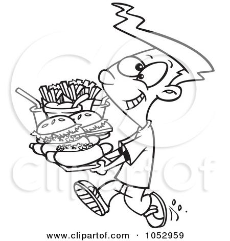 Similiar Black And White Cartoon Food Cart Keywords.
