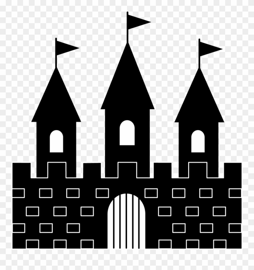 Princess Castle Clipart Black And White Free.