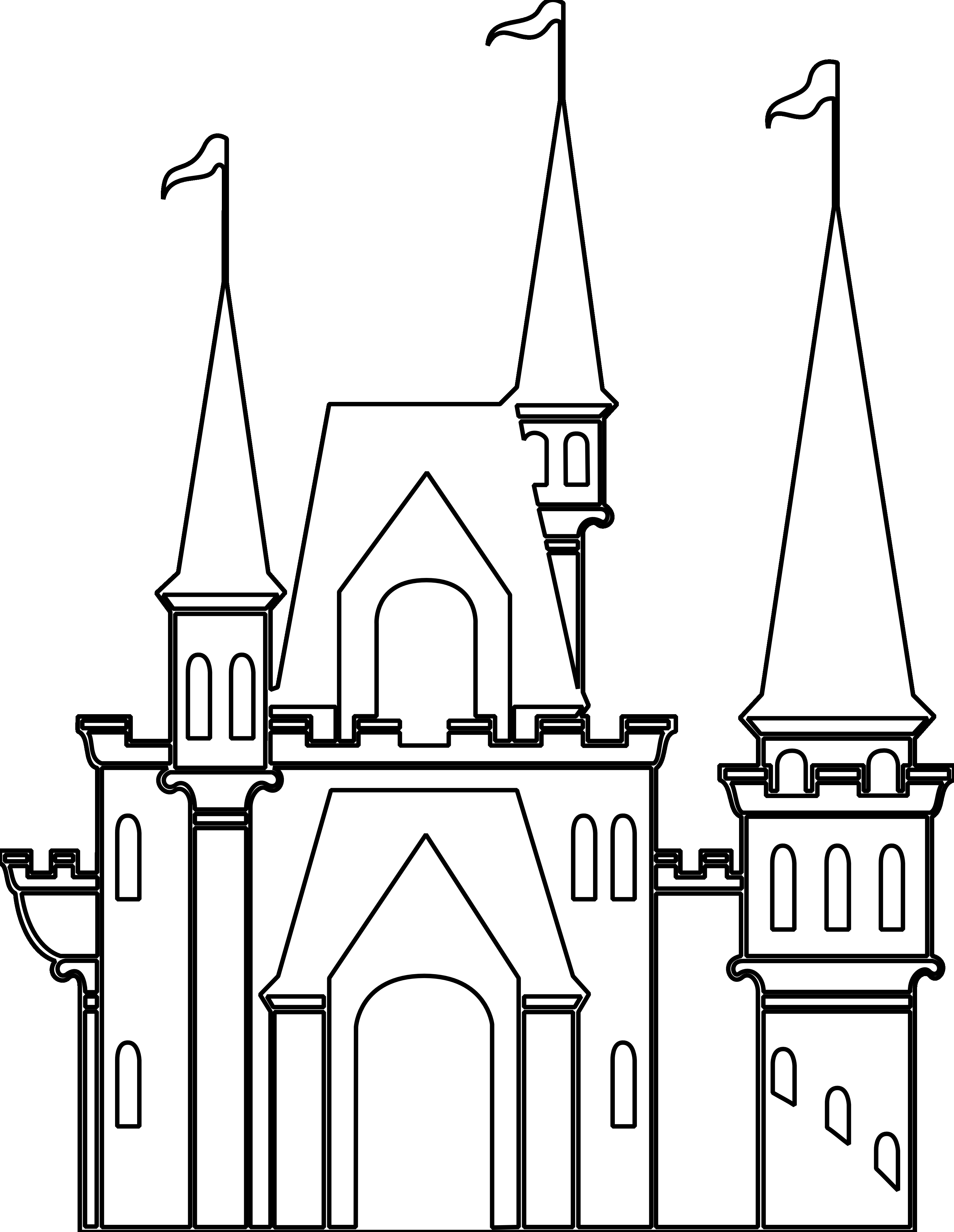 Castle clipart black and white Beautiful Castle Black And.