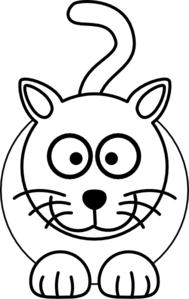 Black And White Cat Clip Art at Clker.com.