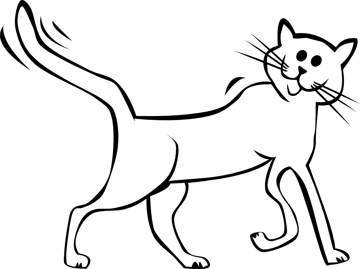 Cat Clip Art Black And White.