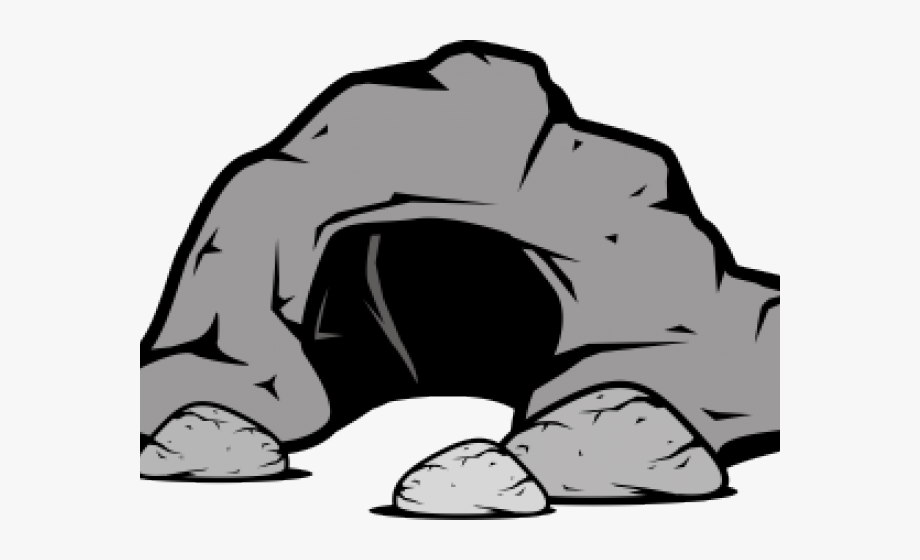 Cave Clipart Black And White.