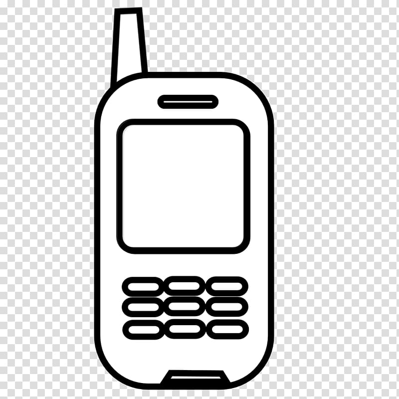 Telephone Black and white , Cell transparent background PNG.
