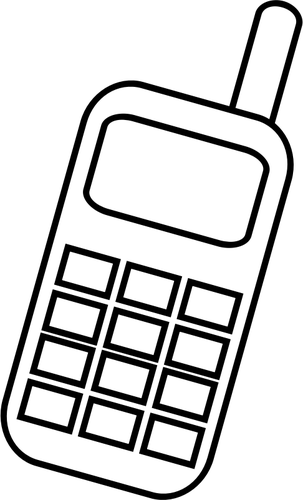 Cell phone clipart black and white 7 » Clipart Station.