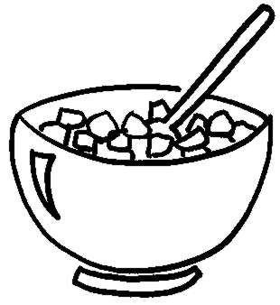 Cereal clipart black and white 1 » Clipart Station.