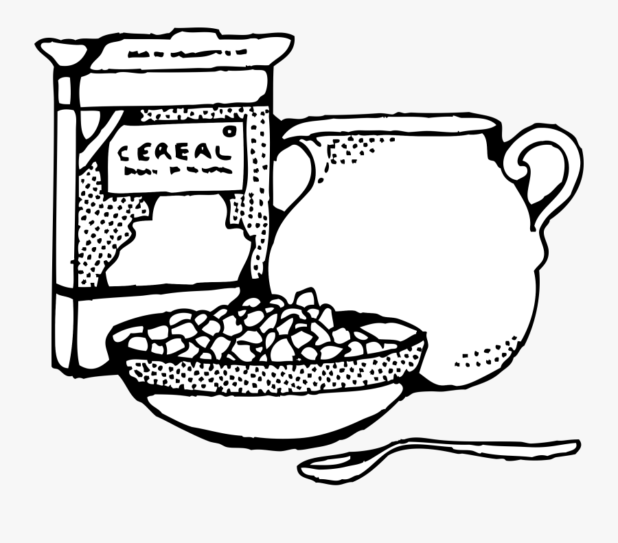 Cereal In Black And White Clip Art , Free Transparent.