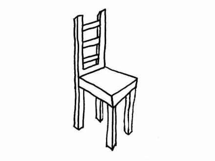 Chair clipart black and white, Chair black and white.
