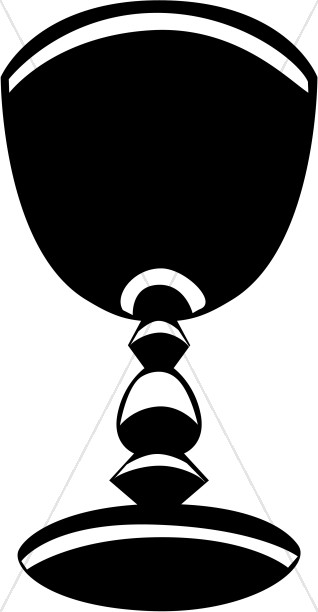 Black and White Striped Chalice.