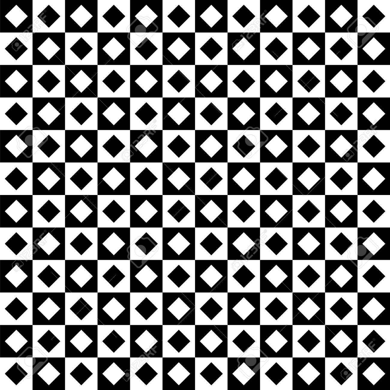 Black and white checkered seamless pattern. Endless background..