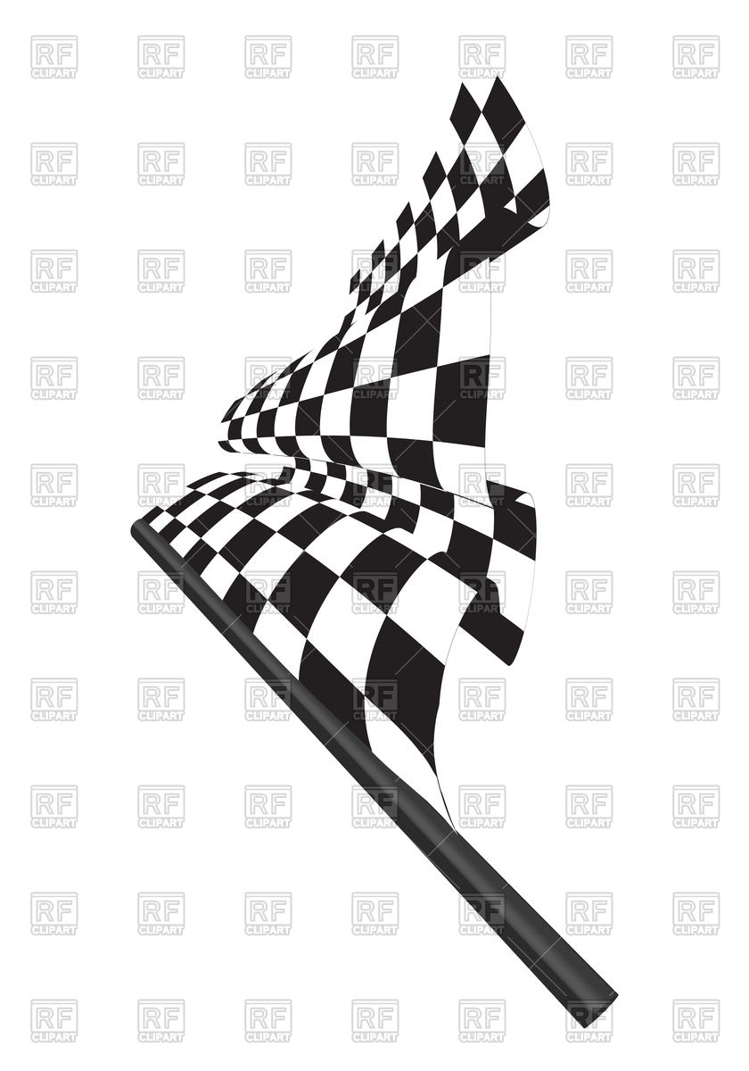 Black and white checkered racing flag Stock Vector Image.