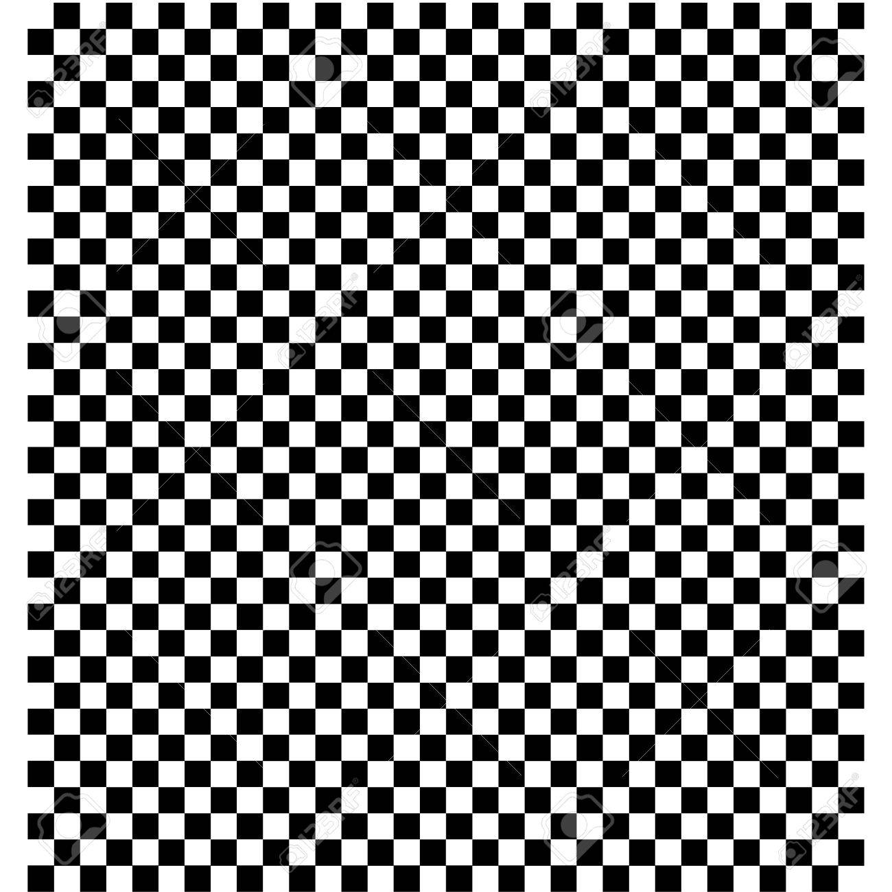 Black and White Checkered background.