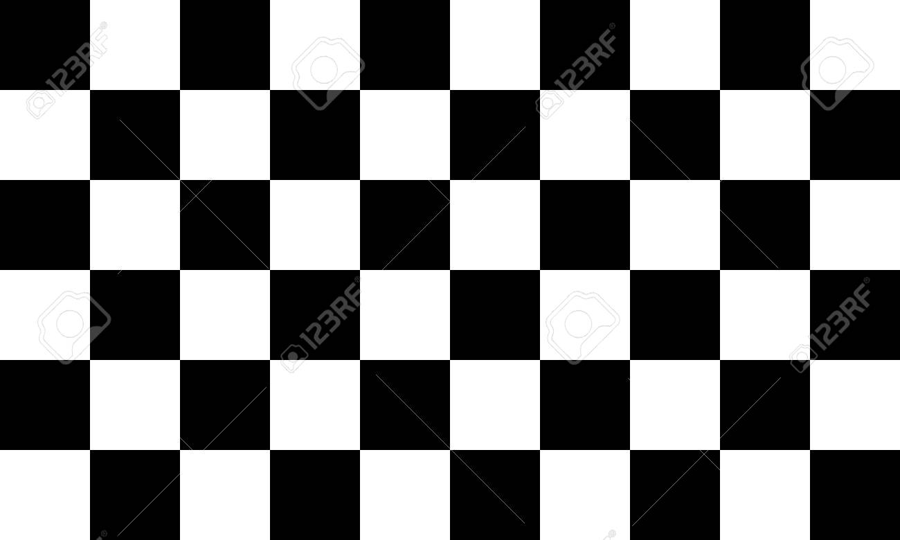 Black and white checkered seamless pattern. Endless background.