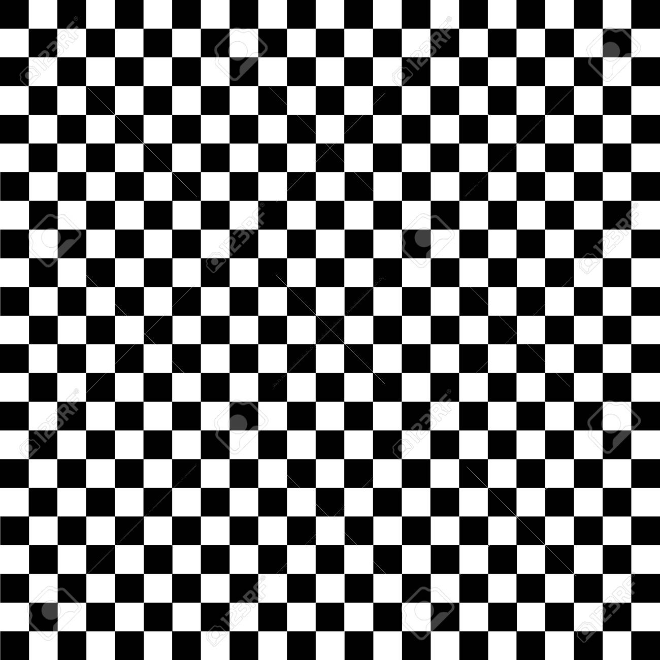Black and white checkered background. Chess pattern. Vector illustration.