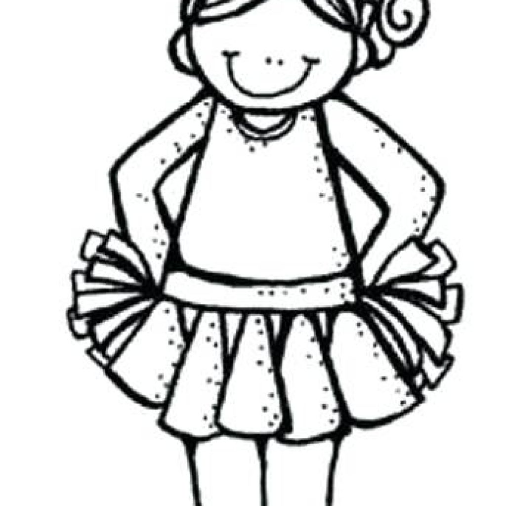 Cheerleader clipart black and white, Cheerleader black and.