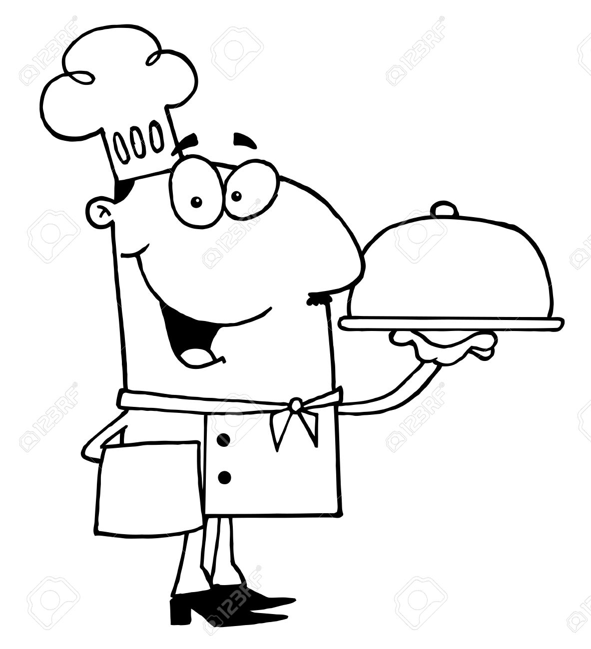 Chef clipart black and white 8 » Clipart Station.