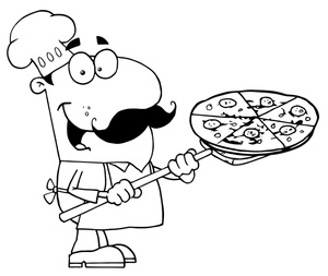 Chef clipart black and white free images 6.