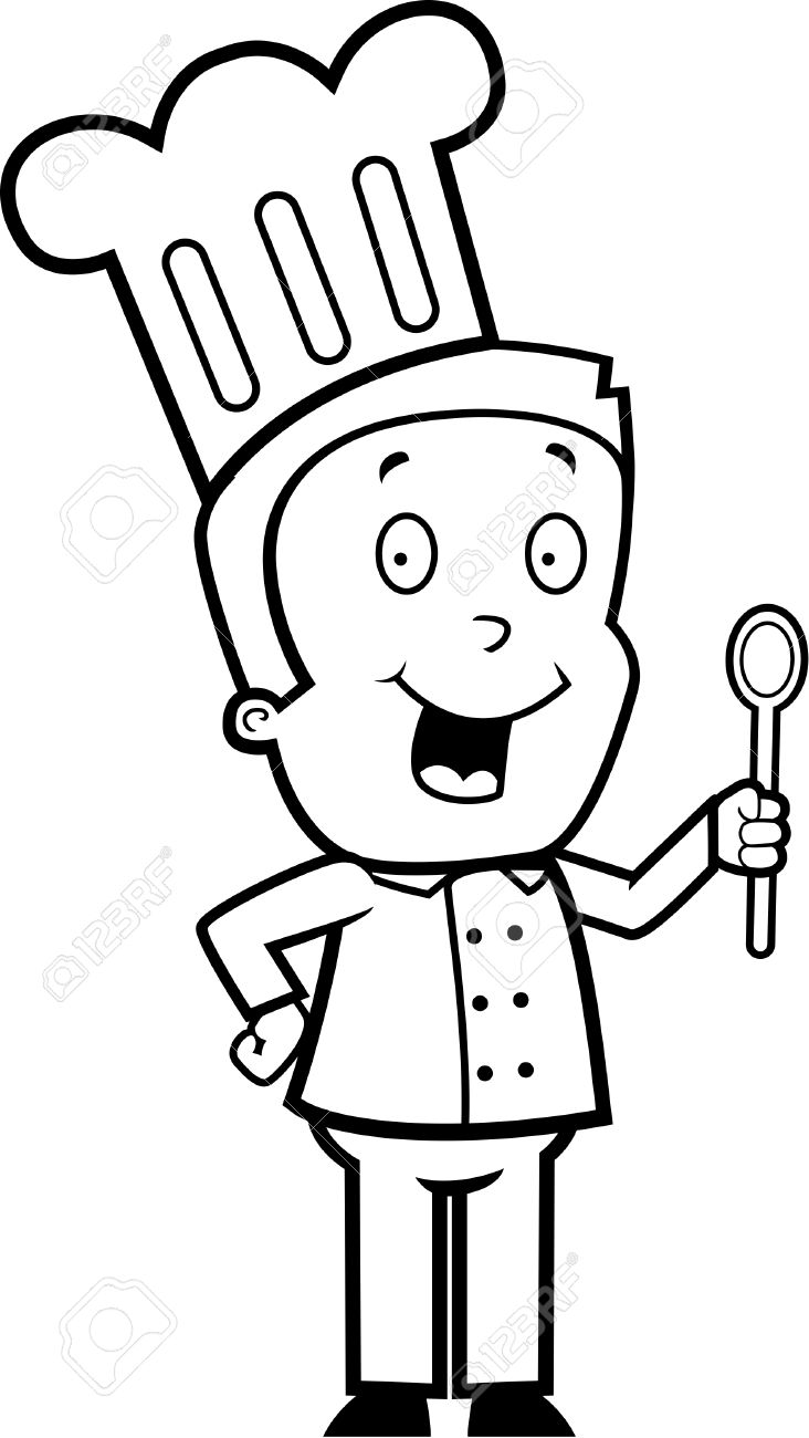 Boy Chef Clipart Black And White & Free Clip Art Images #28407.