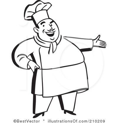 Female chef clipart black and white 1 » Clipart Portal.